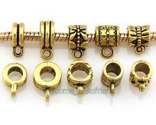 50pcs/ Lot  Antique Gold Plated Bails Beads Connector Fit Charm Bracelet JH05