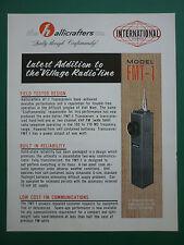 DOCUMENT PUB THE HALLICRAFTERS TRANSISTOR HAND HELD VHF FM RADIO TELEPHONE FMT-1