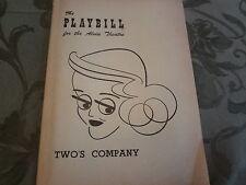 1953 Twos Company Bette Davis Broadway Theater Playbill Program Obituary