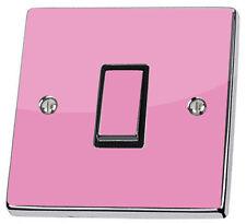 Plain Pink Light Switch Power Socket Sticker vinyl decal skin match ur wallpaper
