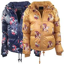 Womens Brave Soul Heaven Padded Floral Puffer Hooded Winter Ladies Jacket Coat