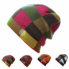 Casual Cotton Plaid Pattern Winter Knitted Hat For Adult Men Women Beanie Bonnet