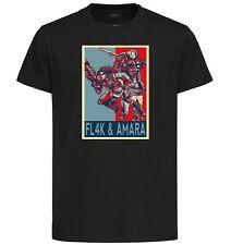 T-Shirt Black - Propaganda Borderlands - Flak & Amara