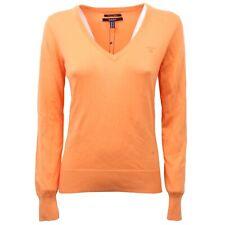 C4590 maglione donna GANT arancione cotone sweater woman