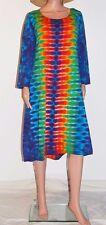 TIE DYE Women's Rainbow DNA Long Sleeve Dress hippie gypsy sm med lg xl 2X 3X