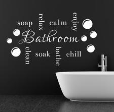 Savon Relax Clean Enjoy calme Bulle Salle de bains autocollants muraux citation ...
