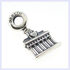 STR Silver Germany Berlin Brandenburg Gate Bead f/ European Charm Bracelet