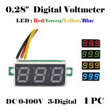 3 Wire Digital DC 0-100V LED Display Voltmeter Tester  Voltage Meter Ammeter