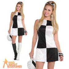 Ladies Mod Girl Costume Adult 60s 70s Go Go Womens Swinging Sixties Fancy Dress