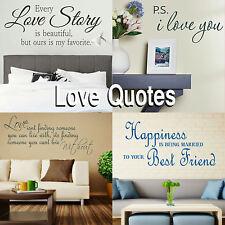 Romantic Quote Wall Stickers! Love Transfer Graphic Decal Romance Decor Stencil