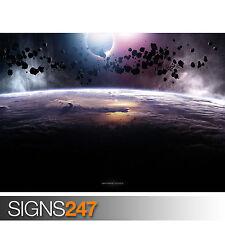 ASTEROIDS ECLIPSE (3034) Space Photo Picture Poster Print Art A0 A1 A2 A3 A4