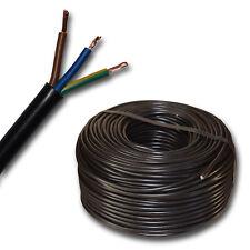 (0,65€/m) H05VV-F 3G1 mm² H05VVF 3x1,0 schwarz Schlauchleitung Stromleitung