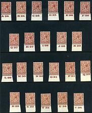 1924 KGV Block Cypher 1½d Control Singles S.G. 420