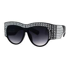 12b8506149 Womens Sunglasses Bold Thick Oversized Frame Silver Bling Decor UV 400