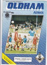 Oldham ATHLETIC V Oxford UNITI 1984 / 85 divisione 2-novembre 17A