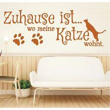 Wandtattoo Spruch Zuhause ist wo meine Katze wohnt Wandsticker Aufkleber Bild 4