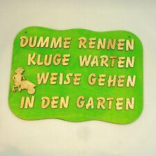 Türschild Holz für Garten-Besitzer Garten Schild mit Spruch Frosch Schubkarre
