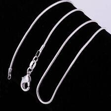 Wholesale Lots Women Snake Chain Silver Necklace Jewlery CA Men Women