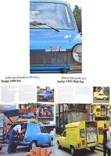 Simca Dodge 1100 Van High Top Pick Up 1976-77 Original UK Sales Brochure No 1011