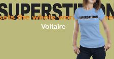 La Superstición conjuntos de todo el Mundo En Llamas. Voltaire Camiseta Filosofía