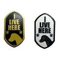 Jack Russell I Live Here - 3D Printed Dog Plaque - Door Gate Garden Sign