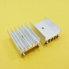 23 x 30 x 16 mm con dissipatore di calore in alluminio IC Chip RADIATORE TO-220 (Argento) COOLER