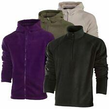 Unbranded Men's Plain Zip Up Long Sleeved Warm Running Jackets