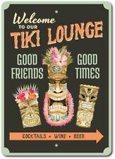 Tiki Lounge Sign, Tiki Men Decor, Tiki Statues Aluminum Sign ENSA1003372