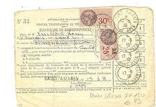 TIMBRES FISCAUX SERVIVE RADIODIFFUSION St AMARIN 17-8-1938