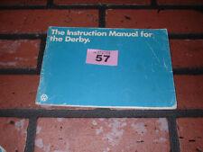 VW DERBY OWNERS MANUAL / MAINTENANCE HANDBOOK.1979