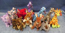 W-F-L TY Beanie Animale selvaggio Wildlife Elefante Giraffa Ippopotamo Canguro