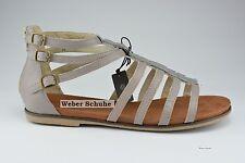 Bugatti Schuhe Damen Sandalette Echtleder Reißverschluß grau taupe