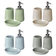 MOON 3pc Set da bagno in ceramica per CASA UFFICIO BAGNO WC ACCESSORI SET