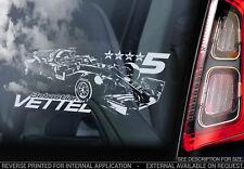Sebastian Vettel #7 - Car Window Sticker - Formula 1 F1 Decal Ferrari - V04 NEW
