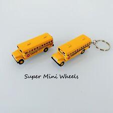 Kinsfun Mini School Bus 1:64 Diecast Toy car Keychain 2.5''
