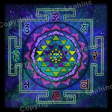 Sri Yantra Cloth Tapestry Yoga Sanskrit Sacred Mandala Wall Dorm Poster Decor