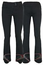 Señoras NEGRAS de pantalones de trabajo de calidad Stretch Fitted trabajo Pantalones En 3 Tramos