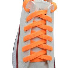 """Flat Shoelace 8 mm """"Neon Orange"""" Athletic Sneakers 27"""",36"""",45"""",54"""",63"""""""