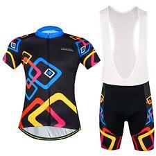 Aogda Cycling Set Men's Cycling Jersey & Padded (Bib) Shorts Kit Square Rings