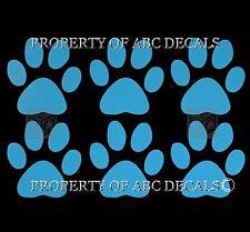 "DOG PAW Print 6 pc 2"" lot Puppy Adoption Rescue Pet Love Tracks CAR VINYL DECAL"