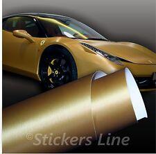 Pellicola adesiva ORO SPAZZOLATO adesivo metallo car wrapping moto auto tuning