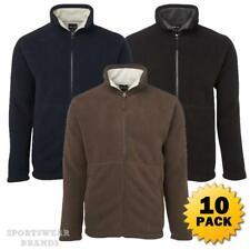 10 x Mens Shepherd Jacket Contrast Fleece Lining Casual Winter Warm Adults 3JS