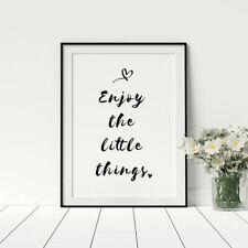 01248 Wall Stickers Sticker Adesivi Murali Enjoy the little things 60x69 cm