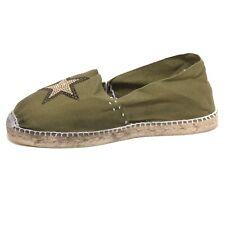 7738P mocassino espadrillas verde militare COUSU MAIN scarpe donna loafer women