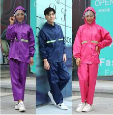 Adults Womens Mens Waterproof Oxford Rain Suit Jacket & Trousers Set  Rain Coat