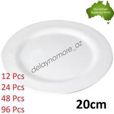 20cm Melamine Round Plate Birthday Wedding Party Dinner White Cafe Snack Dish