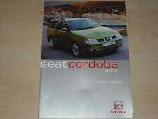 41656) Seat Cordoba Vario Farben & Polster Prospekt 05/2000