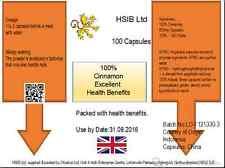Premium 100% Cinnamon Capsules for natural health benefits!  HSIB Ltd