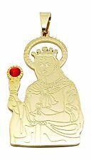 14kt Saint Barbara Pendant Gold Stainless Steel Santa Barbara Dije Oro Acero