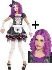 Le Ragazze Costume Bambola danneggiati spezzati Zombie Costume Bambino Halloween Età 4-14